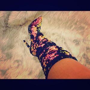 Sequins High Heel Fashion Boots